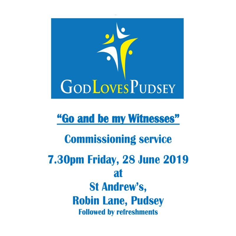 God Loves Pudsey Commissioning Service Poster