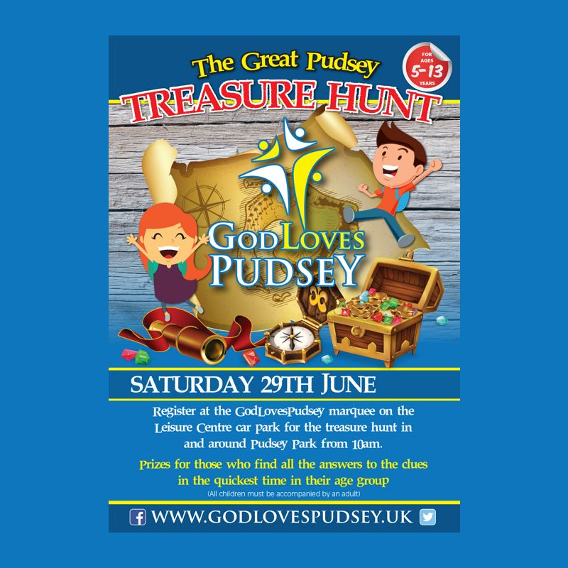 The Great Pudsey Treasure Hunt Poster